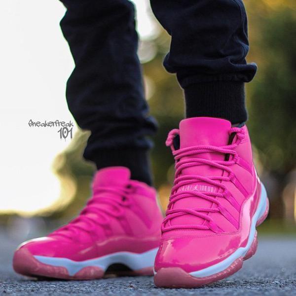 Custom pink Jordan 11s