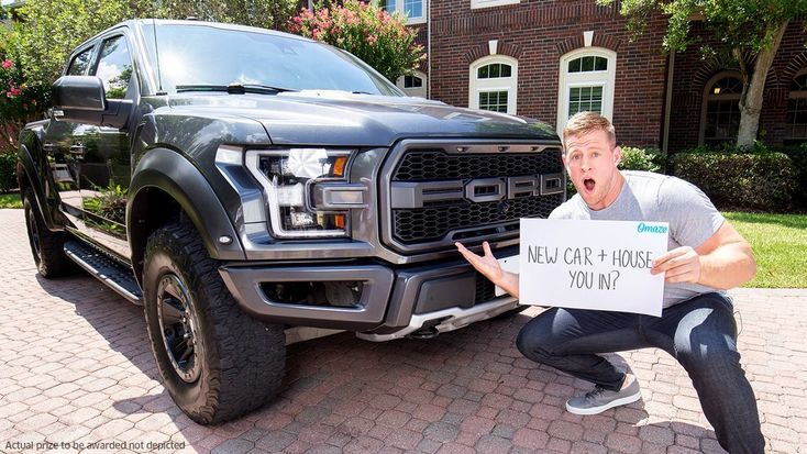 Omaze Jj Watt Sweepstakes Win 100 000 Usd And A 2019 Ford F 150 Raptor Contestbig 2019 Ford Sweepstakes Ford F150
