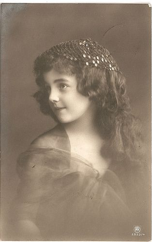 Grete with long brown curls by rosewithoutathorn84, via Flickr