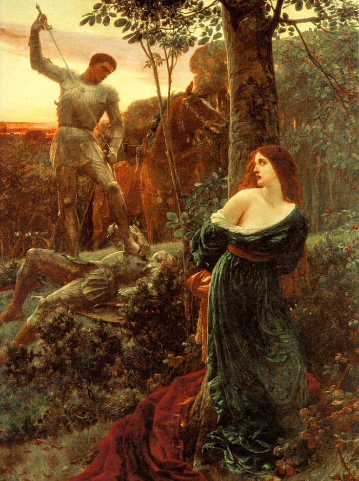 'Chivalry' by Sir Frank Dicksee. (Click to view full size 1524×2039).