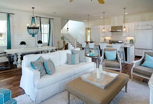 Just imagine this open floor plan with our high ceilings!  It would be so expansive and beautiful.  Also good shot of white walls!