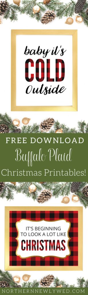 FREE DOWNLOAD Buffalo Plaid Christmas Printables! I LOVE BUFFALO PLAID! from NorthernNewlywed
