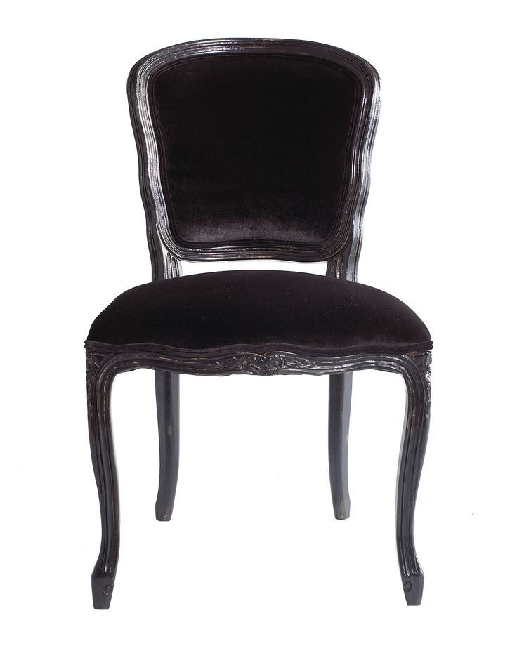 Two Empress Side Chairs. Side Chairs Handcrafted Of Select Hardwoods. Back  And Seat Upholstered In Cotton Velvet.