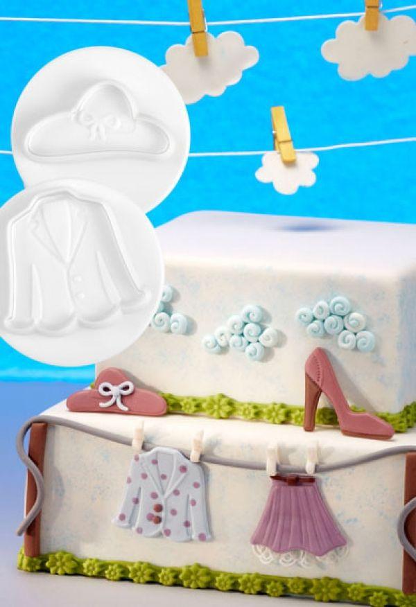 Dough/sugarpaste cutter Fashion 3D set 4pcs.