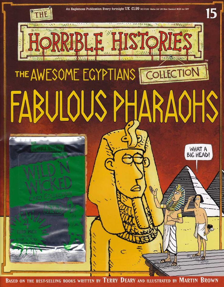 Horrible Histories Magazines... sample free magazine about Pharoahs.