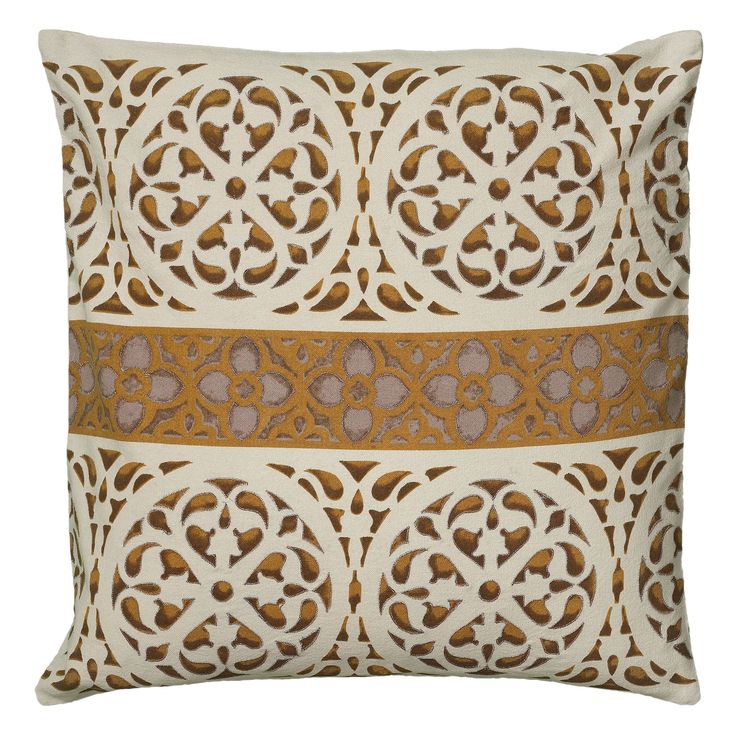 Rizzy Home 18 Inch Printed Metallic Throw Pillow
