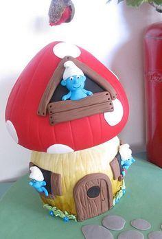 Αποτέλεσμα εικόνας για smurfs cake