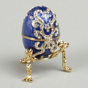 Blue Faberge Style Egg Box