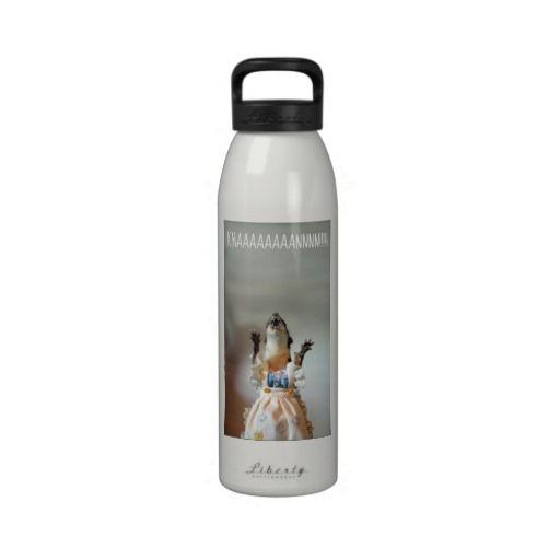 Juanita weasel water bottle