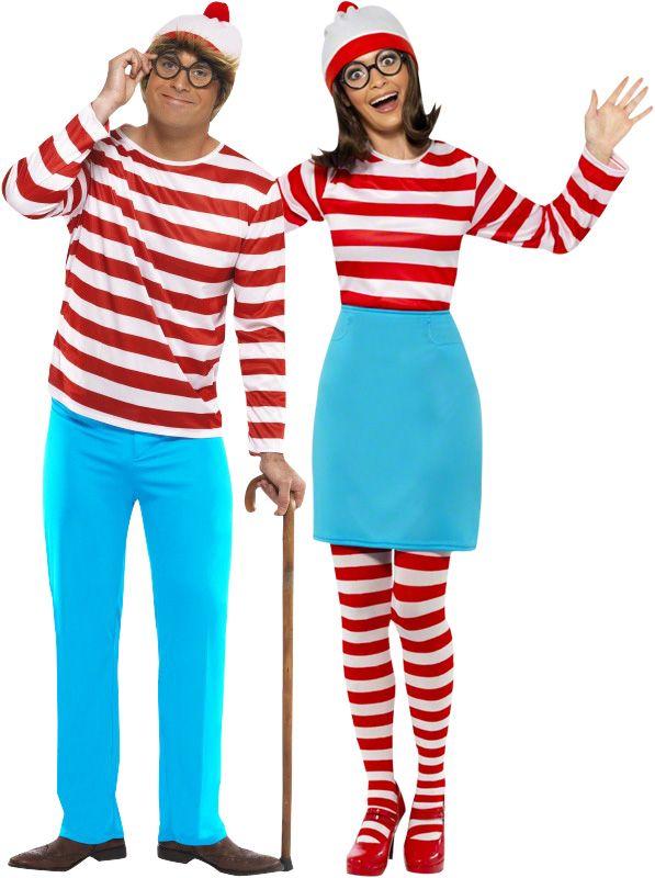 """Déguisement couple Où est Charlie?™ : Déguisement Charlie™ hommeCe déguisement sous licence officielle """"où est Charlie?"""" se compose d'un pantalon, d'un haut ainsi que d'un..."""