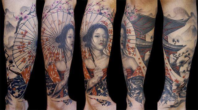 Geisha Tattoos, Designs And Ideas : Page 40
