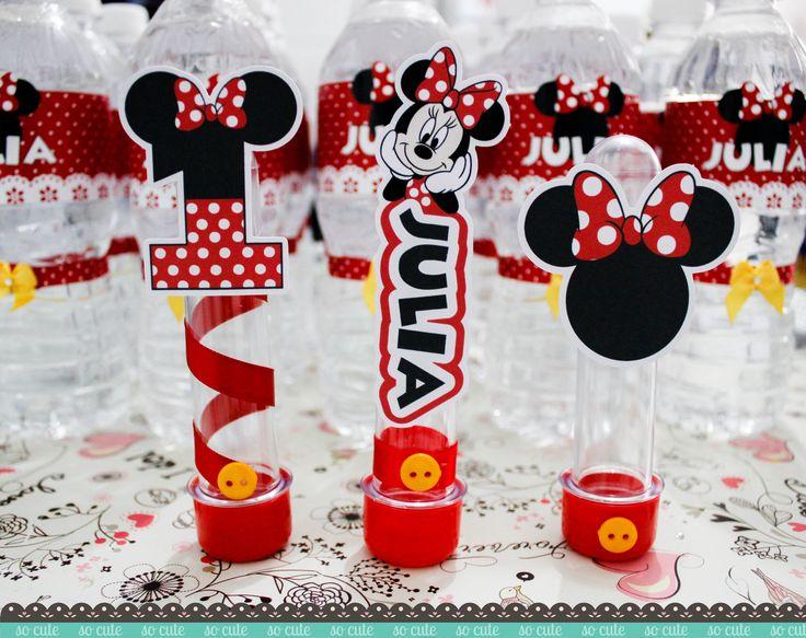 Tubetes para a festa da Minnie de 1 aninho da Julia #minnie  Sobre