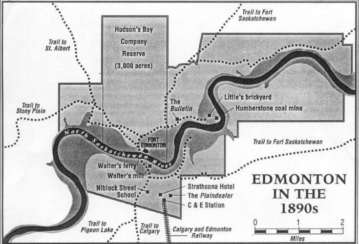 Map of Edmonton from the 1890's.