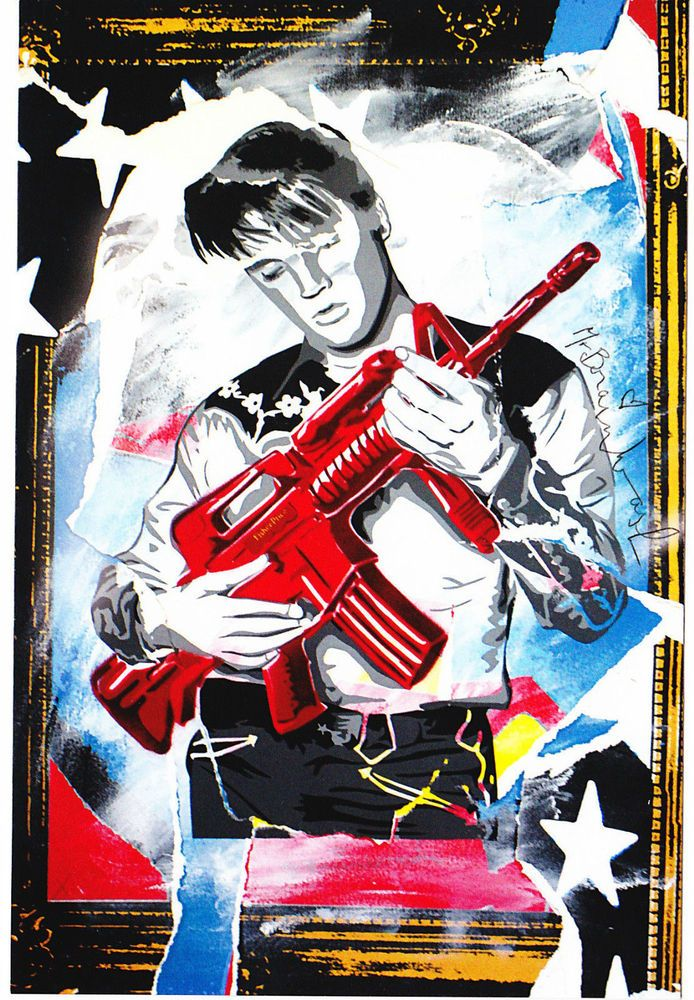 Mr Brainwash Elvis Presley Don T Be Cruel Popart Pop Art Music Print Street Art