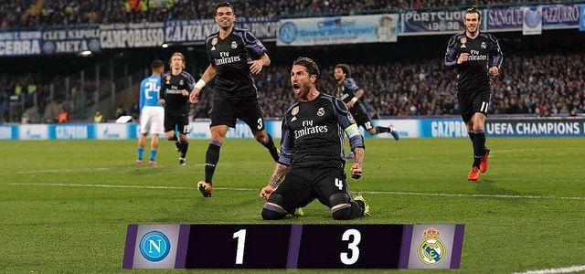 Champions League - Octavos de Final (Vuelta): SSC Napoli 1 - Real Madrid 3 (2-6)