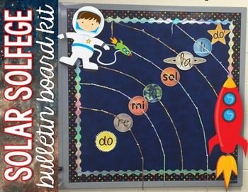 Music Bulletin Board - Solar Solfege Spaced Themed Bulletin Board: Use this as…