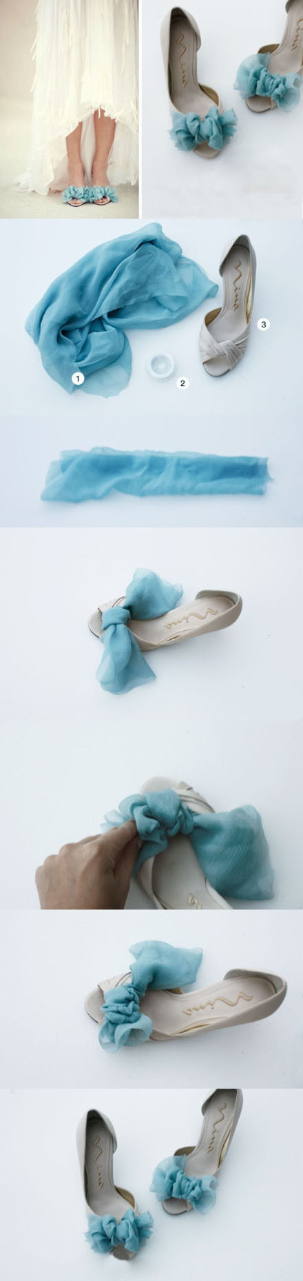 Very beachy feel to these DIY shoes!                                                                                                                                                                                 More