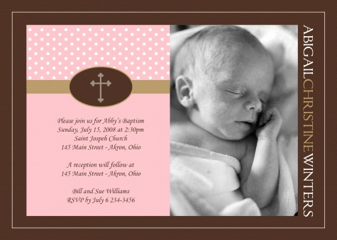 63 best Photo Baptism Christening Invitations images on Pinterest - naming ceremony invitation