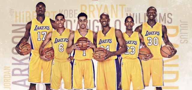 Los Angeles Lakers - Kobe Bryant - Metta World Peace - D'Angelo Russell - Roy Hibbert - Jordan Clarkson - Julius Randle