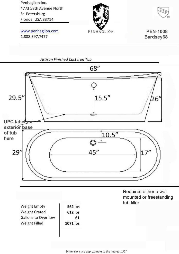 Best 25 built in bathtub ideas on pinterest built in for Freestanding bath sizes