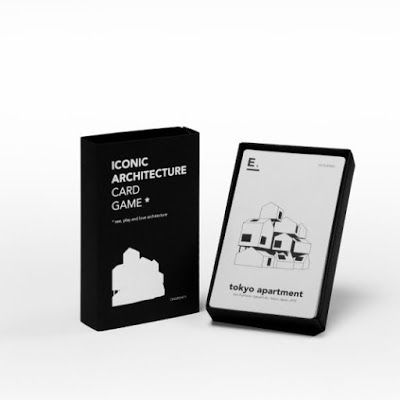 Iconic : architecture card game. Jeu de 7 familles. Happy Family. Quartett. Cinq points.