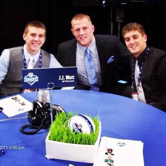 #TBT to the Draft a few years ago w/ JJ Watt. Good luck to those at Radio City Music Hall tonight #DraftDay pic.twitter.com/PIDyUytowF