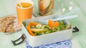 Wortel, peer & geitenkaas salade