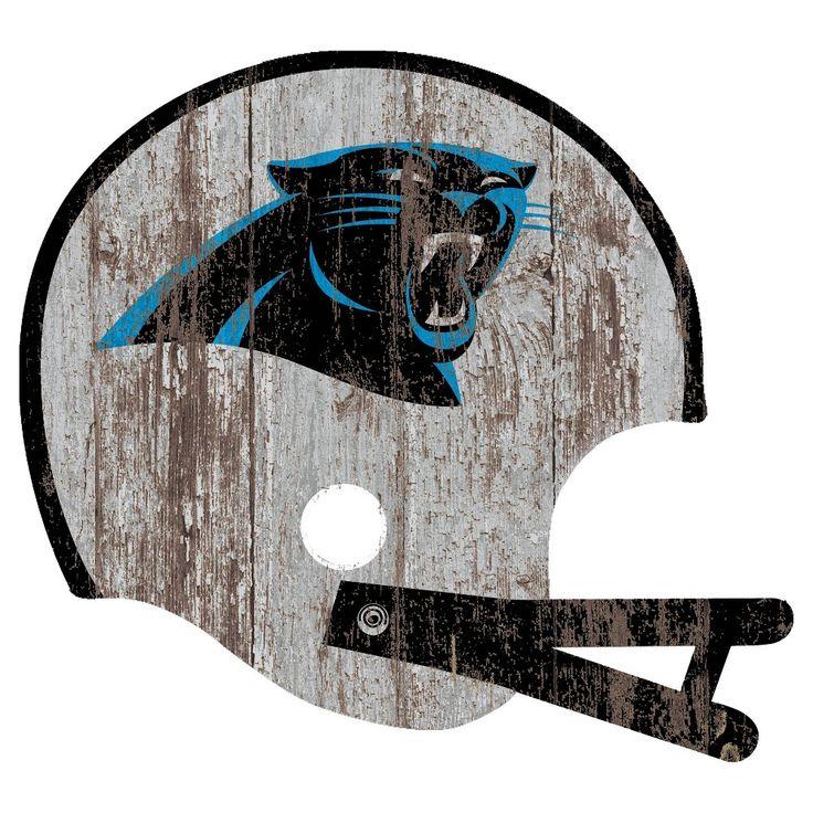 NFL Carolina Panthers Distressed Helmet Cutout Sign