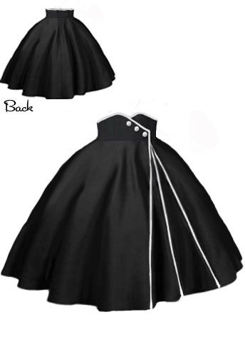 50s inspired Swing Skirt by Amber Middaugh #Retro #Vintage #Rockabilly