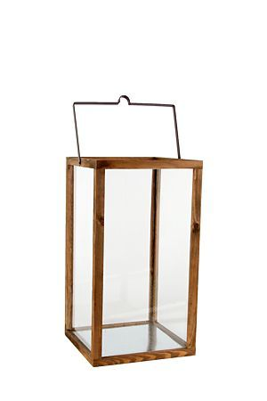 """Add a fresh urban or coastal touch to your space with this simple yet modern wood and glass lantern. Place a pillar candle inside for that extra glow when used either indoors or outdoors.<div class=""""pdpDescContent""""><BR /><b class=""""pdpDesc"""">Dimensions:</b><BR />L25xW25xH45 cm</div>"""