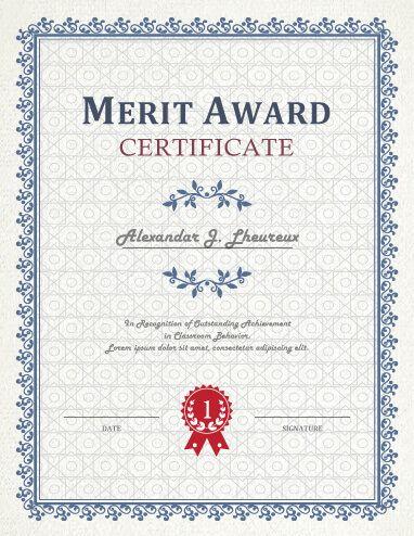 Award Of Honor Certificate Sample Award Awardtemplate