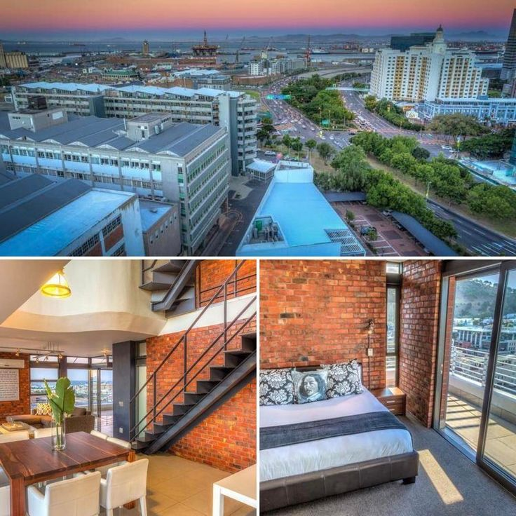 This cosmopolitan and stylish penthouse in De Waterkant, Cape Town has 3 gorgeous bedrooms and offers amazing city views from the private rooftop terrace. #penthouse #cityviews