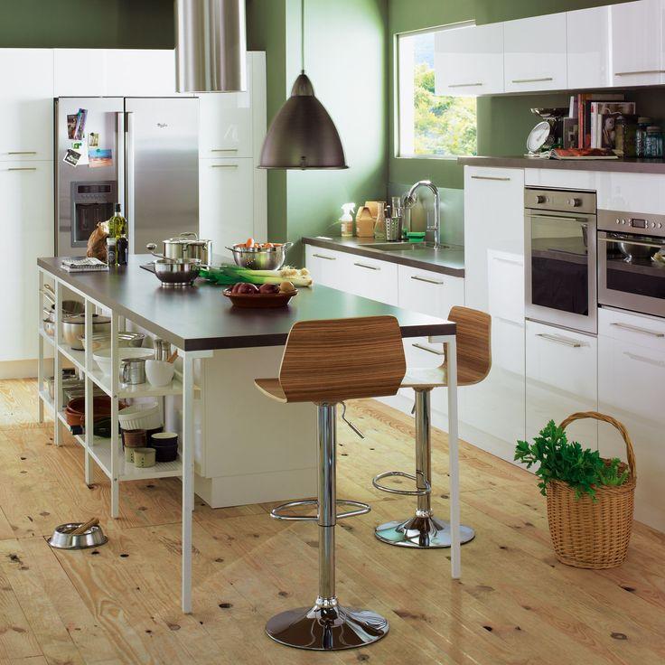 Best Cuisine Déco Images On Pinterest Deco Cuisine - Table laque blanc alinea pour idees de deco de cuisine