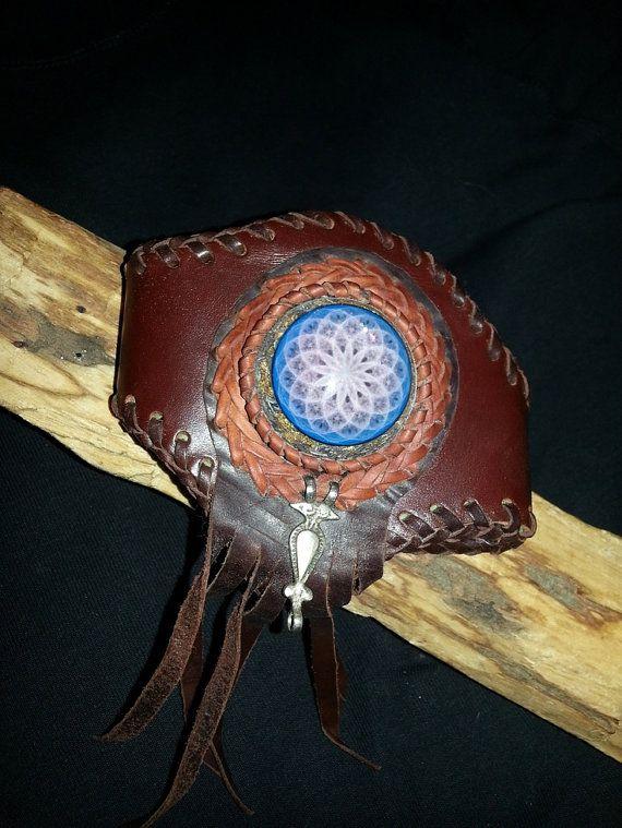 Orgone orgonitearm upper arm leather bracelet by OrgonizeYourLife