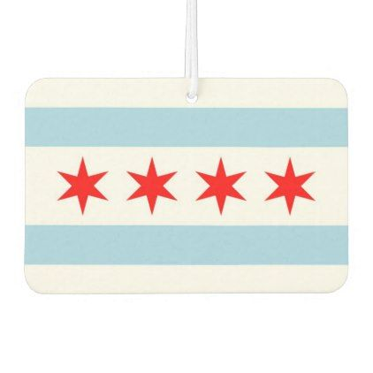 Car Air Fresheners with Flag of Chicago USA  $5.95  by AllFlags  - cyo diy customize personalize unique