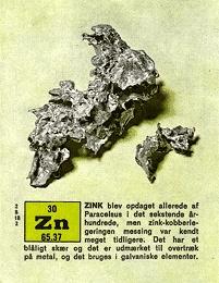 Isotoper og zink