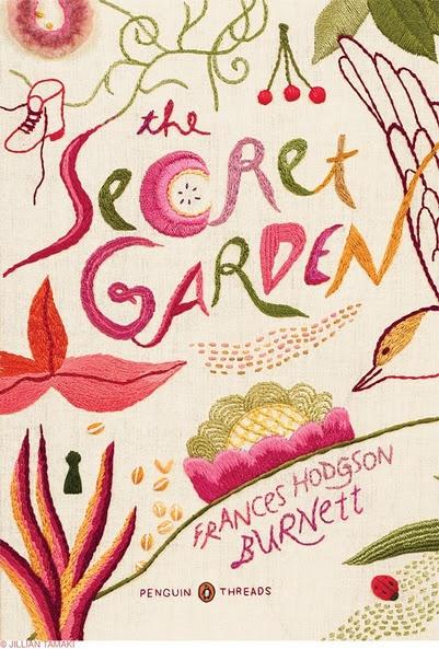 "Beautiful cover art for ""The Secret Garden."""