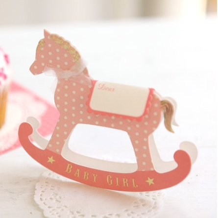 Greeting life Rocking Horse Baby Shower Card   $6.84
