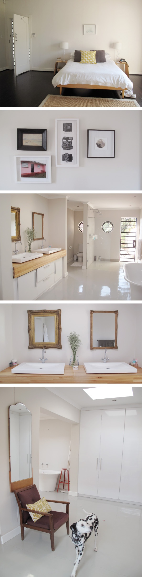 Gina and Bruce Anderson's home photographed by @Angie Durrant Batis, found via Lucky Pony - Love the bathroom!