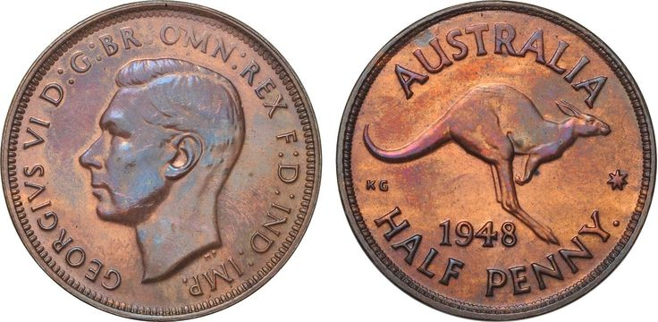 1948 Perth Halfpenny FDC with lustrous burgundy and multicolour fields, very rare.  Lot: 1394. Estimate: $17,500