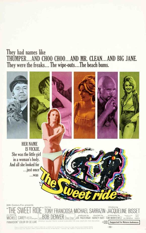 The Sweet Ride, starring Michael Sarrazin, Jacqueline Bisset, Anthony Franciosa, Bob Denver, Michele Carey and Michael Wilding, 1968