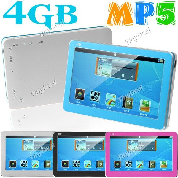 """http://www.tinydeal.com/it/4gb-43-touch-mp5-player-with-tv-out-tf-card-slot-p-55930.html  4GB 4.3"""" TFT LCD Touch MP5 Player+ Music+ Photo+ Movie+ FM+ Recorder"""