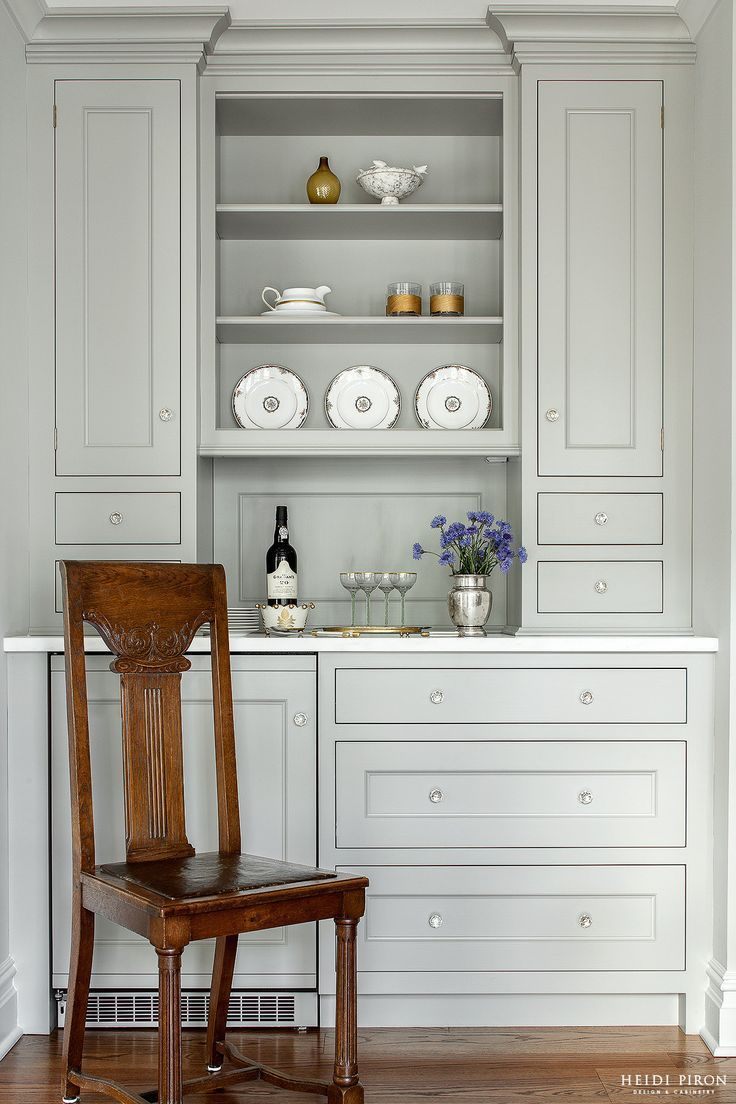 Heidi Piron Design And Cabinetry Traditional Lovely Built In Painted Breakfront Wonderful