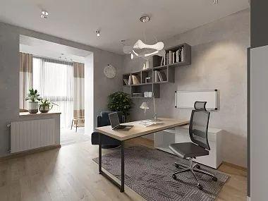 Интерьер трехкомнатной квартиры в современном стиле, ЖК «Солнечный», 80 кв.м.