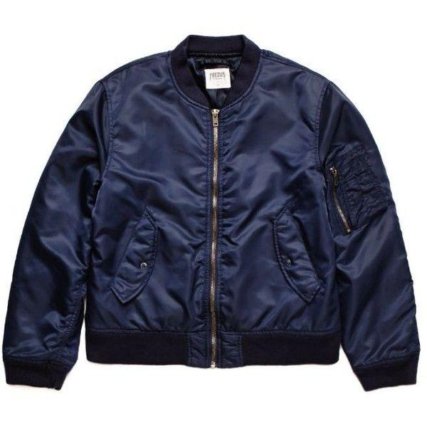 Yeezus Tour Merch Bomber Jacket (1.500 DKK) ❤ liked on Polyvore featuring men's fashion, men's clothing, men's outerwear, men's jackets, jackets, tops, blue, g star mens jacket, mens nylon jacket and mens blue jacket