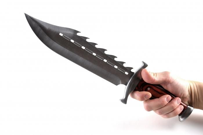 Epic Spiked Full Tang Bowie Knife