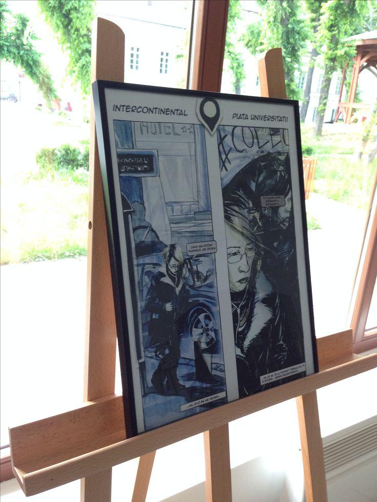 "Comics/Cartoon Expo "" Bucharest in comics""/""Bucureștiul in Benzi Desenate"" July 1st - August 31st  2016"