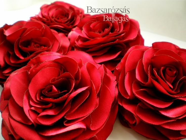 rózsa, vörös, Bazsarózsa, kitűző, selymes szatén