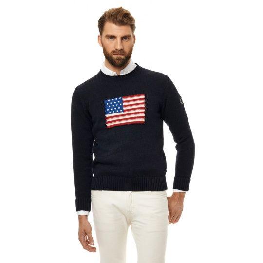 Crispy Cotton Flag Crew Neck Sweater GANT