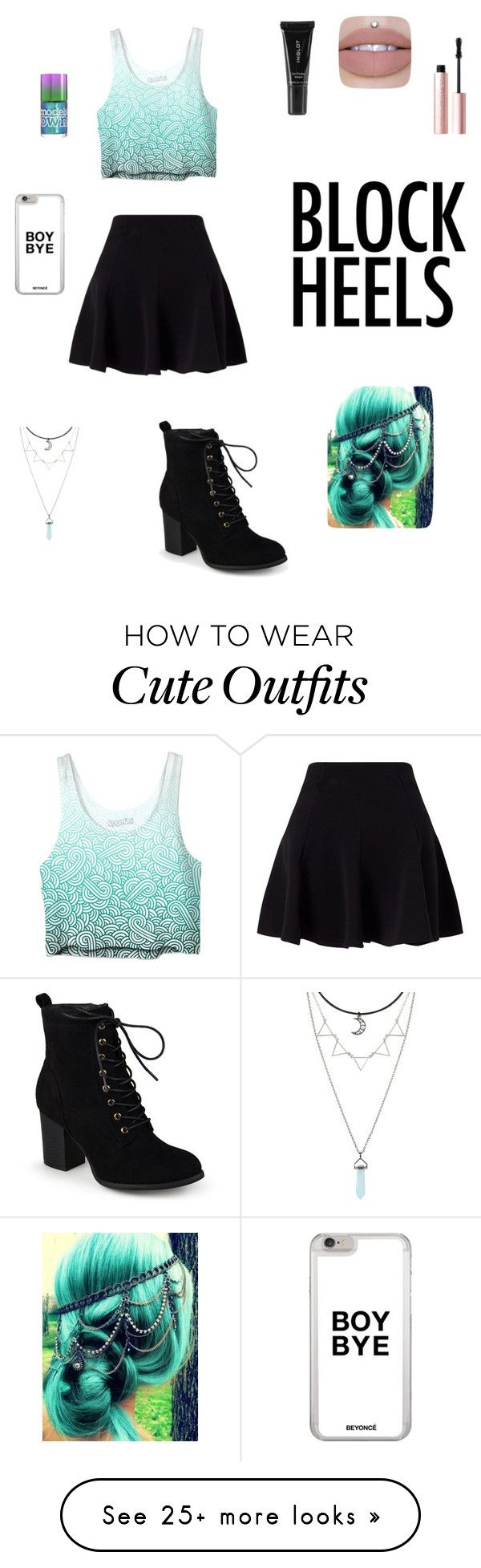 """Cute teen outfit ❤️"" by trinitylee306 on Polyvore featuring Journee Collection, Miss Selfridge, Hot Topic, Inglot and Too Faced Cosmetics"